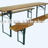 Wooden Folding Beer Table Set/Beer Table and Bench/Wood Garden/Patio/Outdoor table set