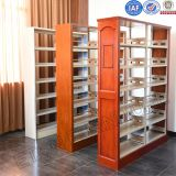 Library Double Sided Bookcase Furniture Metal Multi-layer Book Shelf