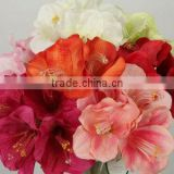 craft artificial fake velvet single flower with plastic stem bulk silk flowers wholesale