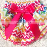 girls ruffle capri satin pants ruffled bloomers chevron printed diaper cover infant nappy cover baby rainbow satin bloomer