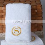 luxury banded satin hand towel hotel towel