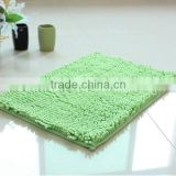 Hot sale soft and absorbent Microfiber chenille custom bathroom rugs