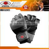 MMA Leather Boxing Gloves Sparring Kick Thai Gym Punching Bag Half Mitt