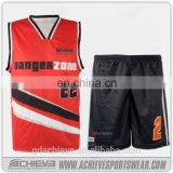 wholesale custom euroleague basketball jersey uniform design color red