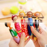 1pcs/lot Sweet family Girl Doll design ballpoint pen Lovely ball pen Stationery office material School supplies