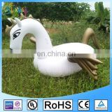 New Product 2017 Swim Water Float Inflatable Swan Gold Wings Pegasus Float Toy