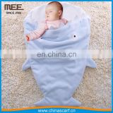 baby fashion cute kids cartoon korean minky shape polar fleece fabric baby sleeping bag flannel shark blanket