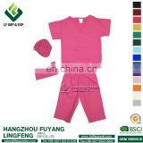Scrubs tops 2017 Hot Sale Pink Hospital Uniform V-neck Set For Doctor