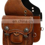 leather saddle bag - brown leather saddle bag