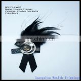 all black feather fascinator/feather corsage
