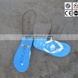 hot selling promotional die-cut logo design flip flops