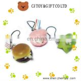 colourful food shaped phone strap