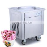 DHL air express to door worldwide frozen yogurt rolls fry ice cream machine with real fruits