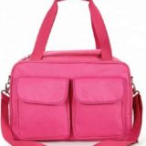 Fashion high quality pink baby helper Mummy bag Baby diaper bag