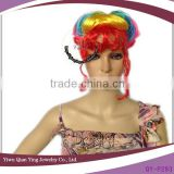 Rainbow color Little Mermaid braid wig