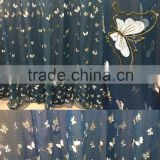 organza polyester jacquard curtain butterfly curtain for girl's bedroom