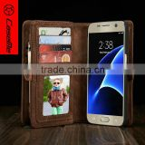 for Samsung s7 case leather stand flip phone case with 2 business card holder photo bag leather case for Samsung s7