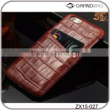 New deisng crocodile embossed leather case for iphone 6 with card holder mobile phone case