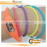 New design and fashionable silicone long band watch