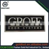 2015 new design custom metal labels,cheap nameplate,aluminum logo for door                                                                         Quality Choice
