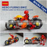 Decool 9368 Transport Series Star Soldier War Motorcycle Racing Motor Hero Furno Bike Model Educational Toys