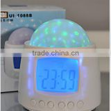 Novel Magic LED Color-Change Projection Alarm Clock Rainbow 7 Color Projector Clock