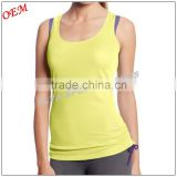 Strikingly good looking 100% polyester slim fit running Wear women's Lady running singlet