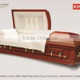 WESTON coffin crafts american veneer mdf casket