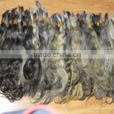 best quality grey hair bulk virgin braid remy hair without any process