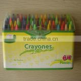 Quality and social audited bulk/packed 64-color wax crayons