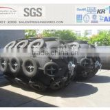 marine pneumatic rubber fenders with chain protection net