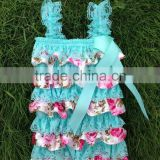Hot sale floral baby lace romper kids romper suit girls lace ruffle romper                                                                         Quality Choice