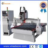 Yaskawa servo Syntec controller/8 tools auto tool changer CNC router, cnc wood cutting machine price with atc