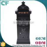 Made In China Lion Ornament Green Large Cast Aluminum Mailbox Letter Box                                                                         Quality Choice