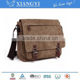 Vintage Canvas Laptop Messenger Bag School Bag Business Briefcase 16 Inches new design in 2016