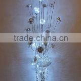 Floor Standing Aluminum Lamp fancy High Quality Flower Vase beautifui small leaves flower