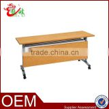 steel flipper table with wood grain finish stackable student desk for school furniture M230