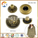 Hot Sale Cheaper Antique Brass Custom Metal Snap Button                                                                         Quality Choice
