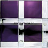 Mirror glass mosaic purple tiles - glass mosaic mirror tiles- mirror mosaic tiles wall decoration- beauty building material