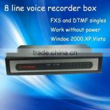 Hot Sale!8 Line Voice Recorder Box Telephone Recording Card