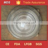 Clear wholesale underplate gold silver glass beaded charger plate                                                                         Quality Choice