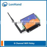 USR-WIFIIO-83 8 channel ethernet relay board/wifi relay converter suppply Android PC MAC software app