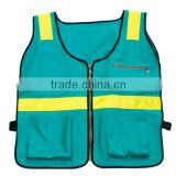 blue mesh safety warning vest