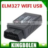 Newly ELM327 WIFI OBD2 Auto Code Reader ELM 327 WI-FI OBDII scan tool Supports Android iOS Phone Pad with High Quality