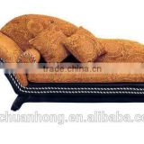 American style Chaise/Leisure fabric lounge/Solid wood Chaise