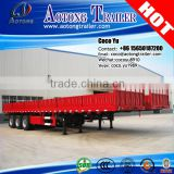 General cargo trailer truck for bulk cargo small side wall open box 3 axle grain carrier semi trailer