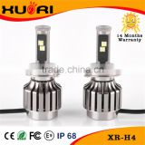 Hot 9-36v fans cooling 40w 3600lm xhp70 led headlight bulbs h4 double beams for all cars
