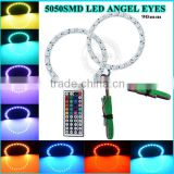 Auto lighting system 80MM DC12V 5050SMD LED Angel Eyes ring / Halo Ring Halo Light 80MM LED ANGEL EYES White red blue green
