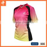 ladies dye sublimation office wear shirts embroidey logo,ladies custom sublimation rugby wear,casual rugby jerseys uniforms,