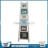 Wooden Ladder Multi Photo Frame With White Frame                                                                         Quality Choice
